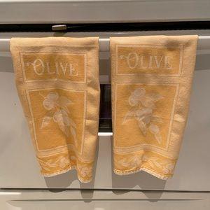 Mediterranean style cotton tea towels